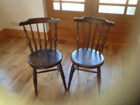 2 Dark Wood Antique Chairs