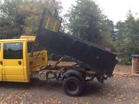 Ford transit tipper double cab with extras