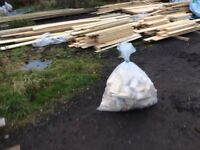 Large bag of Dry off cut firewood, £10 each