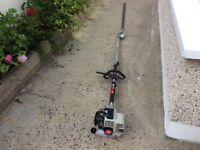 Gardencare GC262CH Petrol long reach hedge strimmer 55cm cutting blade. 2.2 meter reach Good machine