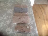 Hand knitted head/hairs bands for winter