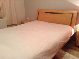Bedroom Furnite Set (Double Bed, Bedside Cabinets, Dresser With Mirror, Wardrobe)