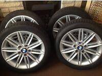BMW series 1 m sport wheels & run flat tyres