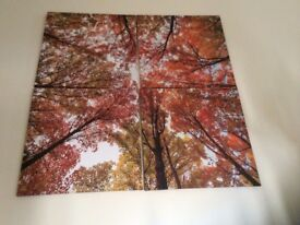 Tree top autumn scene wall canvas from Next