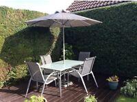 6 piece silver garden patio set - great condition
