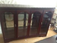 Glass fronted display unit.