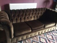 Chesterfield sofa bed.