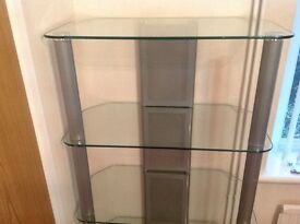 Modern glass shelving unit. REDUCED PRICE!!