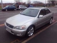lexus is 200 auto 84,000 miles from new 12 months mot full s/history 2 keys