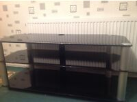 Large 3 Tier Tempered Glass TV Stand