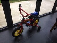 Fireman Sam bike. Hardly used and in very good condition. £35 or near offer