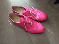 Pink loafers from Rome, Italy