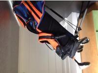 Kids US Golf set - bag and 7 clubs Ultralight