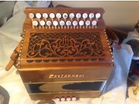 Castagnari Tommy 3 voice button key accordion lightly used