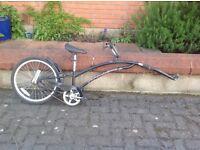 Child's trailer bike and bike attachment