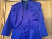 Purple formal dress and jacket size 14