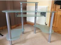 Glass computer desk for sale