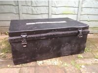 Antique metal storage box