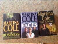 BThree Martina Cole hardback books