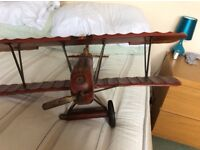 Antique genuine solid wood / metal airplane was given to my son as a gift when born