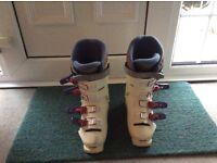 Ladies white Ski Boots