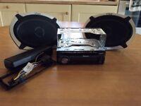 PIONEER Car CD player & VIBE SLICK speakers