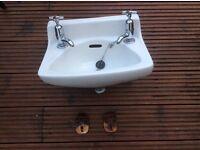 Small bathroom sink.