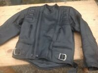 Black Leather Belstaff Motor Bike Jacket (size 42)