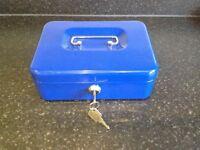 Lockable Blue Petty Cash Box