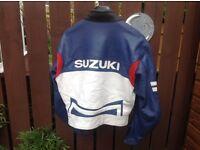 ++++++++ Suzuki leather bike jacket +++++ Honda bmw Yamaha ninja Belfast r1 r6 Gsxr fireblade ed +++