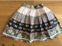Girls cotton skirt age 7/8
