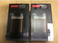 Bodum BRAZIL Coffee Maker French Press System Permanent Stainless Steel Filter, 1.0 L/34 oz) - Black