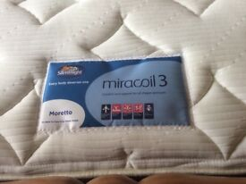 Slumberland Miracoil 3 double bed mattress. Barely used has been on spare bed. Medium to firm