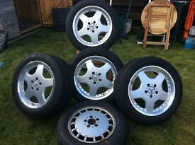 Mercedes 4x Wheels + spare