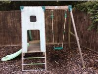 Swing, slide, climbing frame. Baby seat adapters through to young child swing.