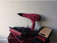 Hair care bundle, hair straightener, hair dryer & heated rollers