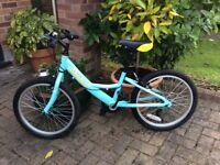 Girls blue Dawes bicycle