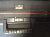 """Delsey 24"""" Black Hard Side case with keys"""