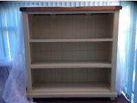 Matching oak tv unit, book case, console table