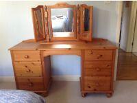 Pine dressing table or desk