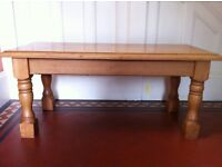 Rustic Oak Farmhouse Bench or Coffee Table / Can Deliver