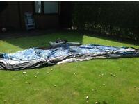 Suncamp platinum 260 lightweight porch awning. Excellent condition. Includes groundsheet and pegs.
