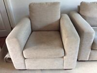 For sale 2 John Lewis sofas and matching armchair in very good condition