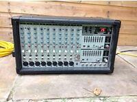 Behringer power mixer PMX2000 plus FBT passive speakers complete PA set up.