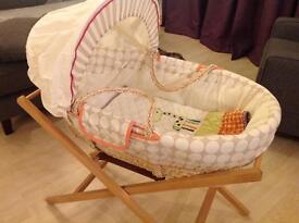 Jamboree nursery accessories and Moses basket