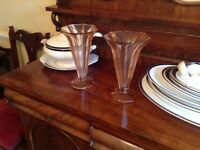 STUNNING PAIR OF ART DECO VASES -price is for the pair**