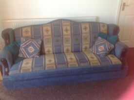 Three 3 Seater Sofas.