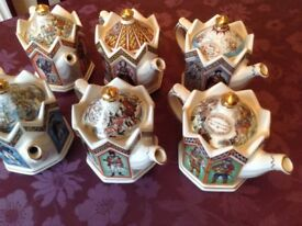 James Sadler Collection of 6 Teapots