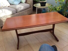 Coffee table in maple colour.