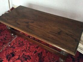 Solid dark oak coffee table